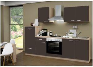 kuche grau matt, menke einbau küchenzeile küche küchenblock 270 cm eiche sonoma lava, Design ideen