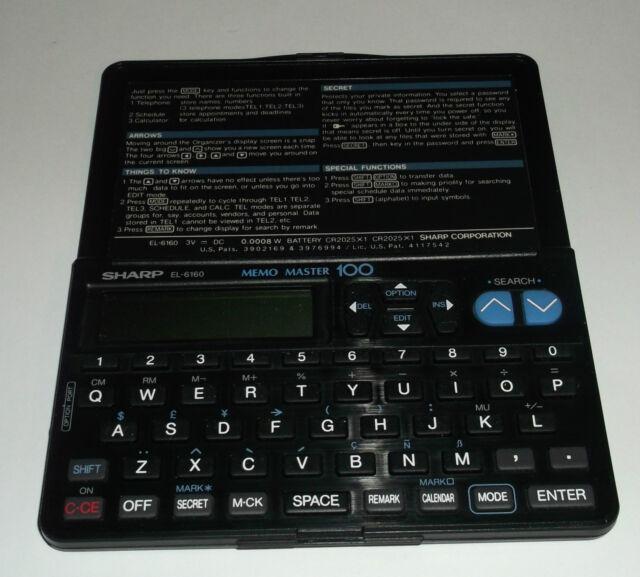 Sharp EL-6810 Memo Master 100 Works Great