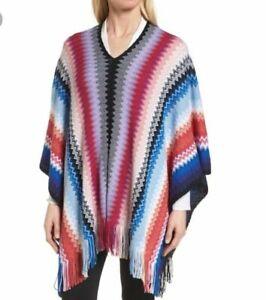 6ad6485cb Missoni Wool Blend fringed Zig Zag Shawl women's One Size NWOT   eBay