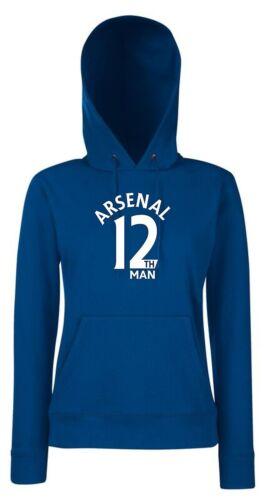 12th Man Arsenal Fan Hoodie Womens