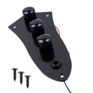 For-Fender-Jazz-Bass-Guitar-Control-Plate-Fully-Loaded-Wired-Switch-Guitar-Parts