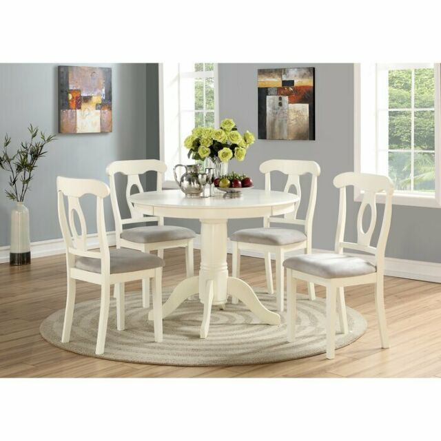 Dining Room Table Set Round Wooden