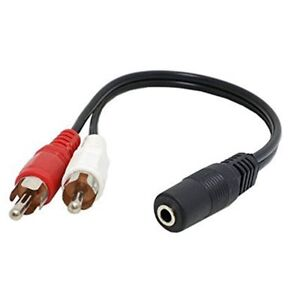 New-3-5mm-Mini-Female-Jack-to-2-RCA-Male-AV-Audio-Stereo-Plug-Y-Adapter-Cable