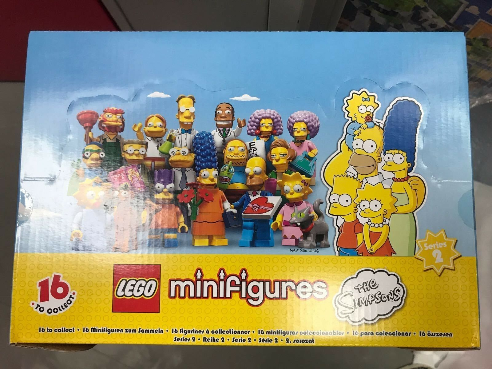 NEW SEALED LEGO Box 71009 of 60 MINIFIGURES - The Simpsons Series 2