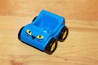 Lego Duplo Ville - Auto blau Rennwagen Go Kart Fahrzeug Katze Gesicht 31363
