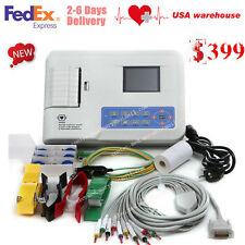 ECG Digital 3 Channel 12 lead ECG/EKG machine+software Electrocardiograph,