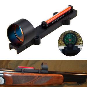 1x-28-Red-Green-Fiber-Sight-Collimeter-Circle-Dot-Rib-Rail-Light-Condutor-Reflex