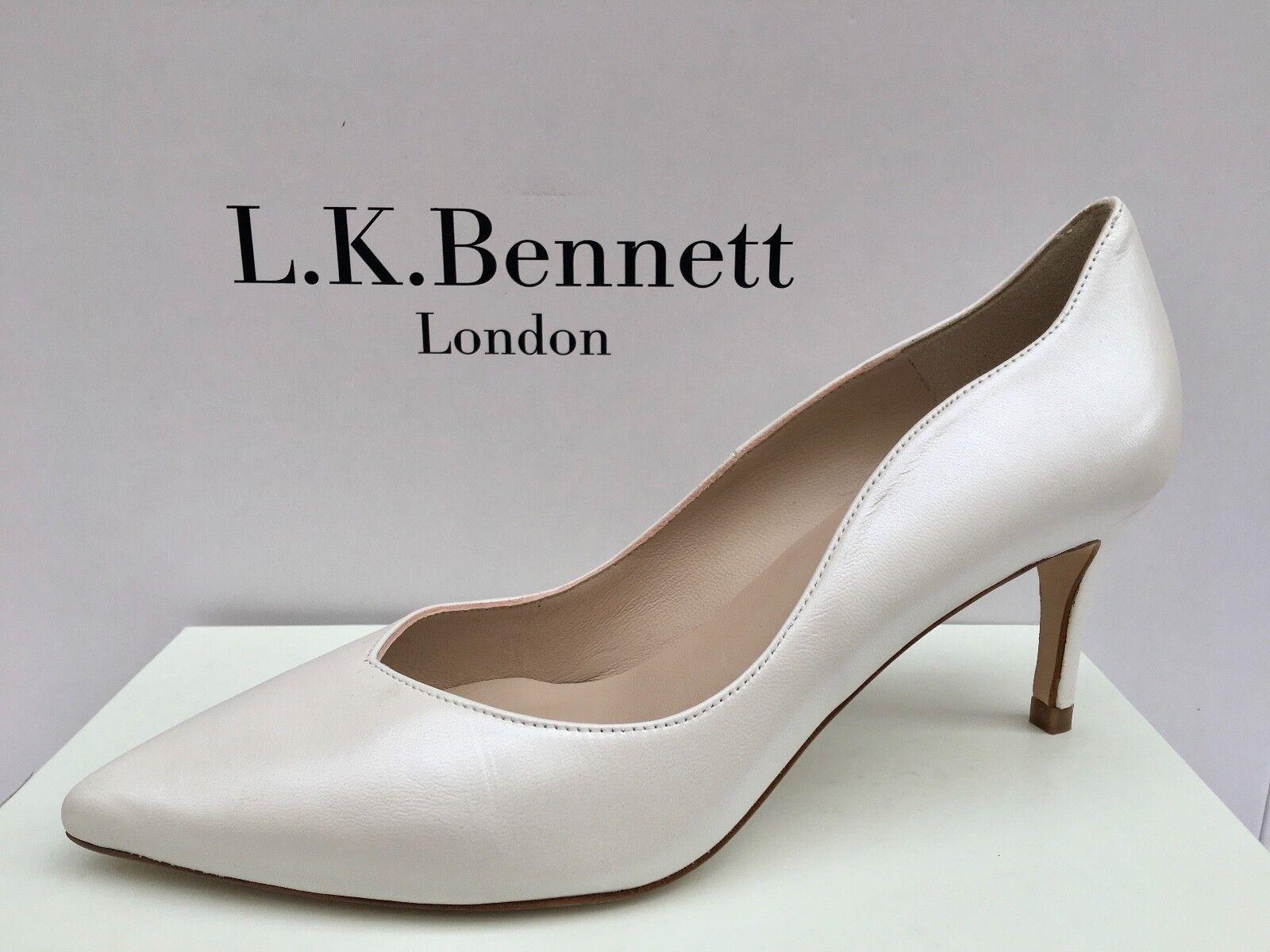 NEW Era  LK Bennett EU41  UK8 ODYSSEIA Perla avorio biancastro Corte Matrimonio