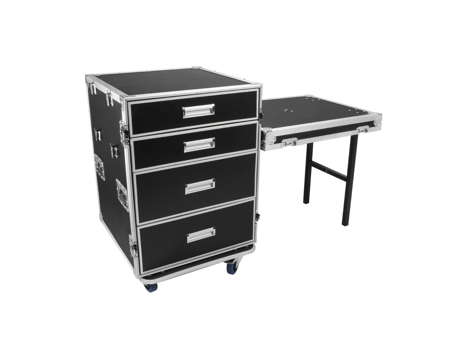 OSP ATA 4 Drawer Utility Road Case Tool Gear Pro Desk w  Lid Table Work Stations