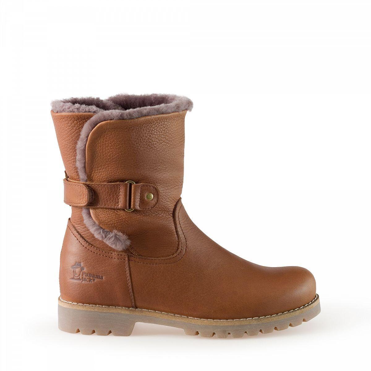 Envio gratis en todas las ordenes Panama Panama Panama Jack Felia Igloo botas de cuero cuero marrón con pelo natural  ofreciendo 100%