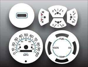 1974-1990-Chevrolet-P30-Step-Van-Dash-Instrument-Cluster-White-Face-Gauges
