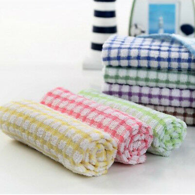 Tea Towels Terry Cotton Kitchen Dish Cloths Large Cleaning Dishcloth Dish  Towel~ | eBay