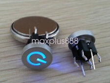 10pcs Blue Led Dia 10mm Cap POWER 12V Momentary Tact Push Button Switch 6*6mm