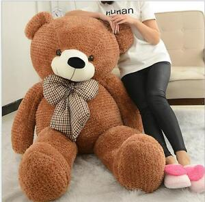 32in.Giant Big Large Light brown Plush Teddy Bear Squinting Birthday dolls Gift