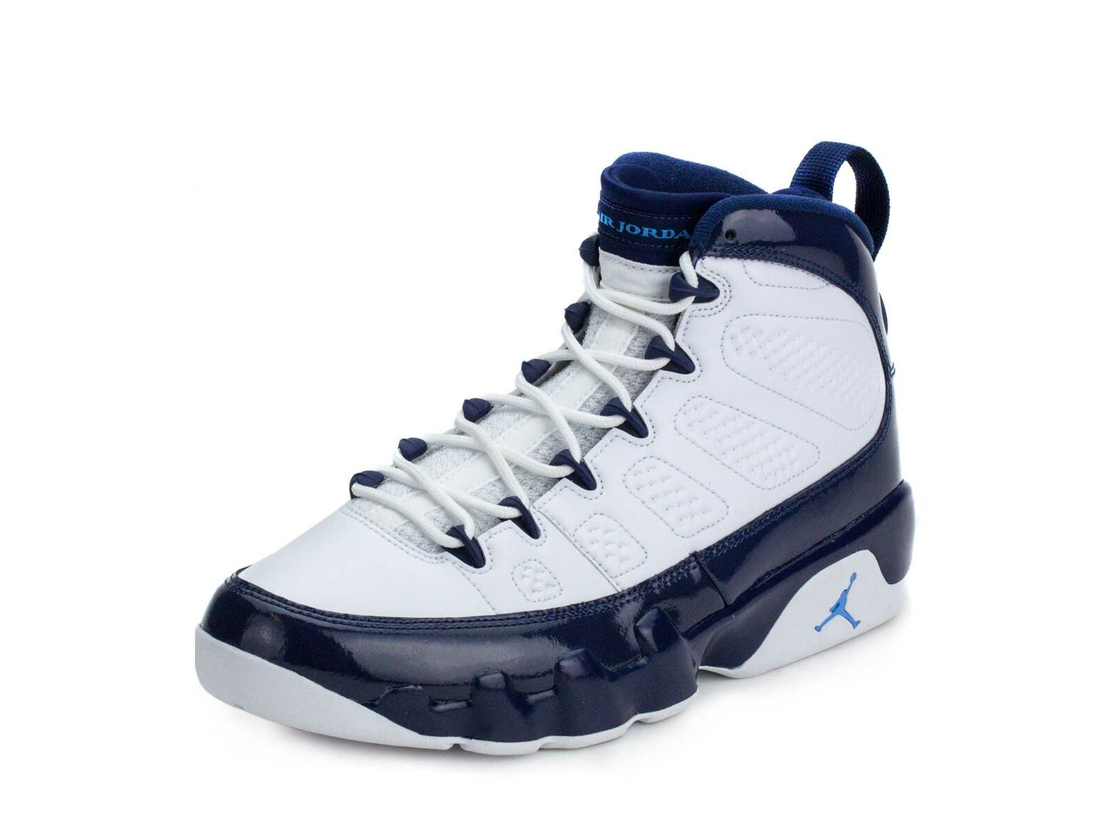 Nike Mens Air Jordan 9 Retro White University bluee-bluee 302370-145