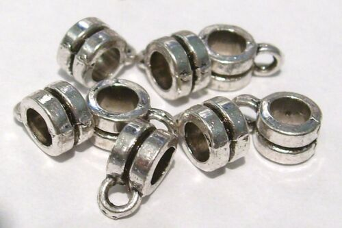 NF Bail Hangers Sliders 20 x Tibetan Silver Plated Charm Holders