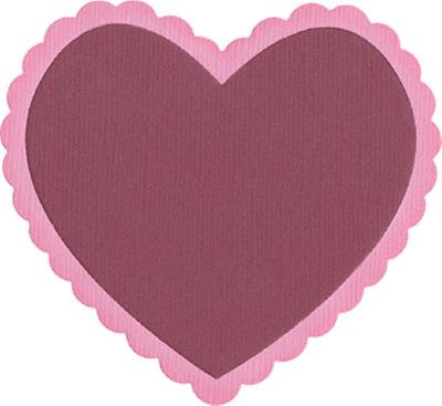 Love   REV-0086 QuicKutz Lifestyle Crafts 4X4 Single Die HEART FRAME  Valentine