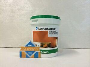 Oikos supercolor vernice pittura murale bianca per interni for Pittura brillantinata oikos