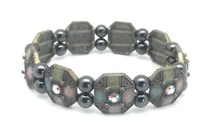 Magnetic-Bracelet-Healing-Hematite-Beads-Multi-Color-Enamel-Crystal-Stretch