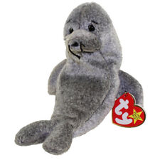 9b1cc9522b4 Slippery Retired 1999 Ty Beanie Babie 7in Grey Seal 3up Boys Girls 4222