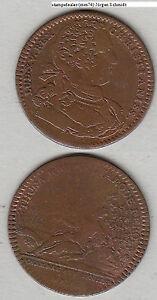 France-Louis-XV-Cu-Jeton-mit-Jz-1733-wohl-Neumann-29978-mm74-stampsdealer