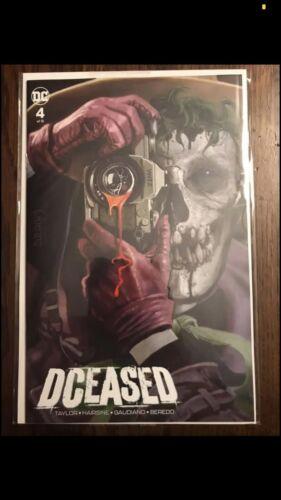 DCeased 4 NM * ARTHUR SUYDAM JOKER VARIANT BATMAN ZOMBIES Killing Joke Homage