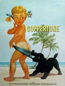 Coppertone-Girl-Suntan-Lotion-Vintage-Style-Ad-Metal-Sign