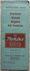 PERKINS-R6-VEHICLE-ENGINE-Instruction-Chart-Aug-1954