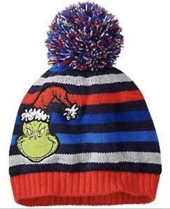 Hanna Andersson Dr. Suess Grinch Collection Knit Hat Beanie Medium M ... 6ac7a49c76cc