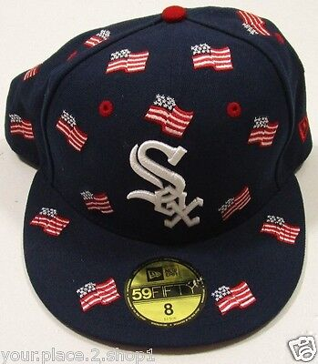 Chicago White Sox New Era MLB All Flags 59FIFTY Blue Cap