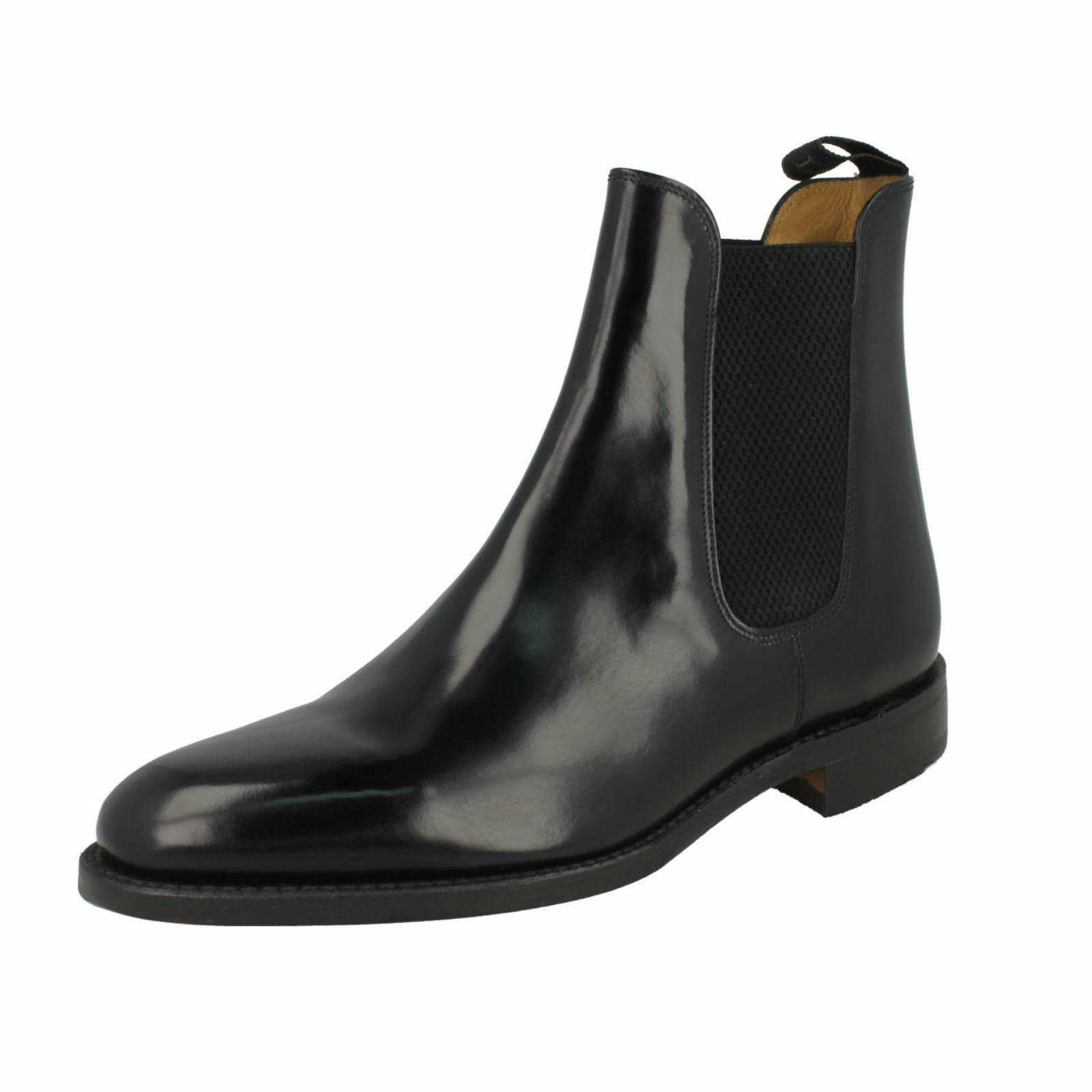 Uomo 290B F fitting schwarz Leder pull on boot boot boot by Loake 7fc32b