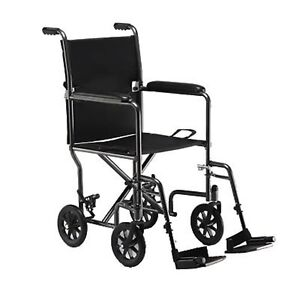 Image is loading Pro-Basics-19-034-Lightweight-Folding-Transport-Chair-  sc 1 st  eBay & Pro Basics 19
