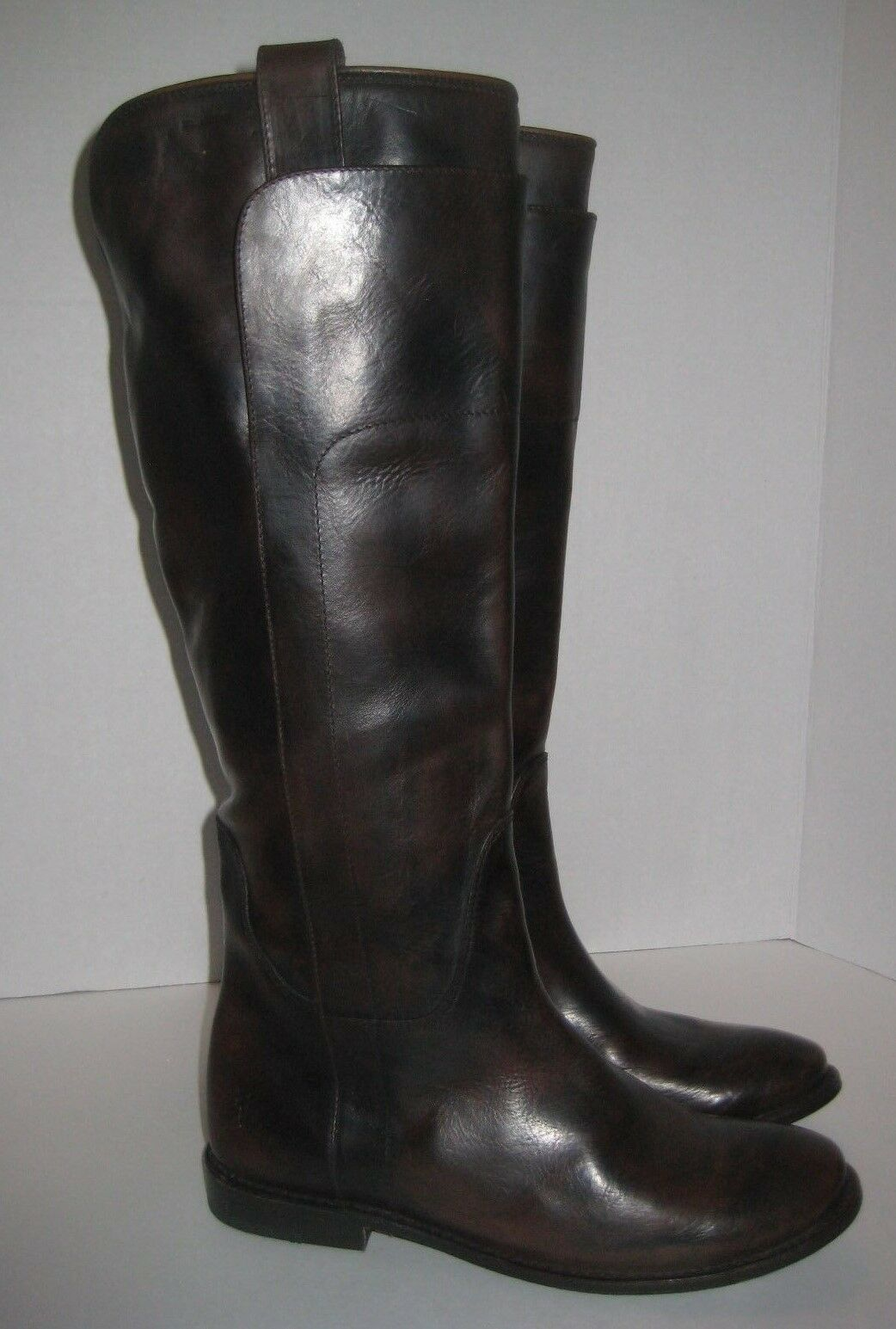 FRYE PAIGE TALL RIDING BOOTS DARK BROWN WOMEN'S SIZE 6.5