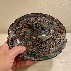Vintage Murano Studio Art Glass Millefiori Tutti Frutti Bowl ~ ITALY