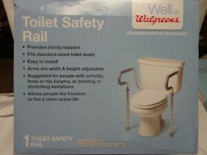 Details About Walgreens Toilet Safety Grab Rail Width Height Adjustable Up To 300 Lbs