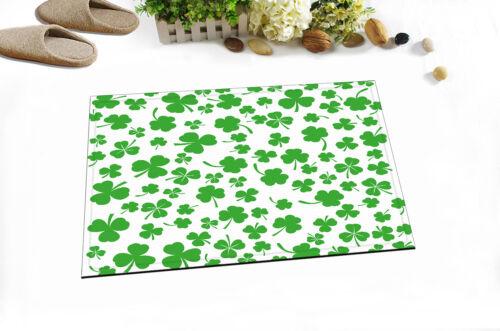 """Shamrocks Print 71X71/"""" Rideau de douche tissu imperméable 12 Crochets Salle De Bain Tapis"""