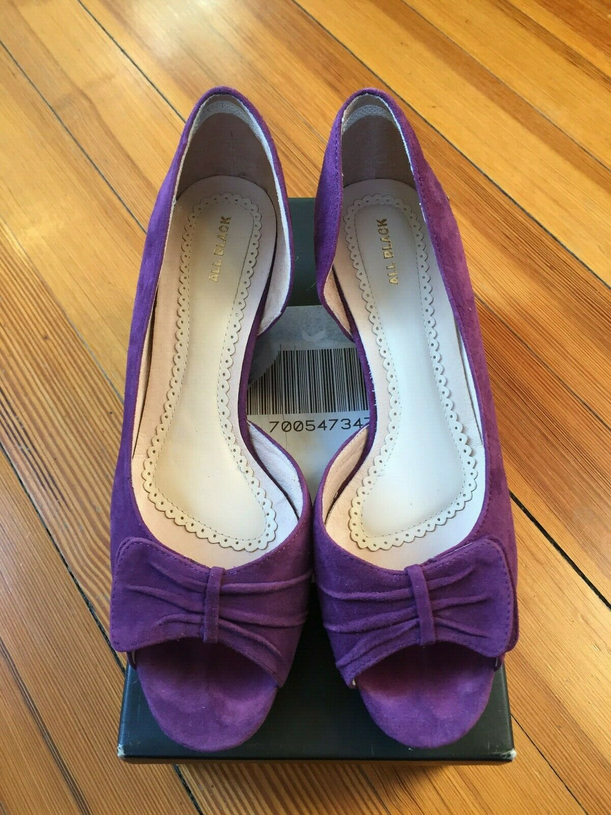 All Black - Urban Chic Purple Suede Wedge - Excellent Condition!