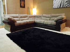 juno large corner group sofa brown jumbo cord rhino fabric ebay. Black Bedroom Furniture Sets. Home Design Ideas