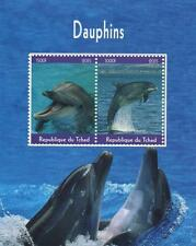 DOLPHIN SEA MAMMAL ANIMAL REPUBLIQUE DU TCHAD 2015 MNH STAMP SHEETLET