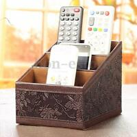 Storage Box Home Tv Remote Controller Cd Phone Organizer Caddy Holder Table Us