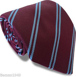 Club-Tie-West-Ham-United-Football-Colours-Claret-Sky-Blue