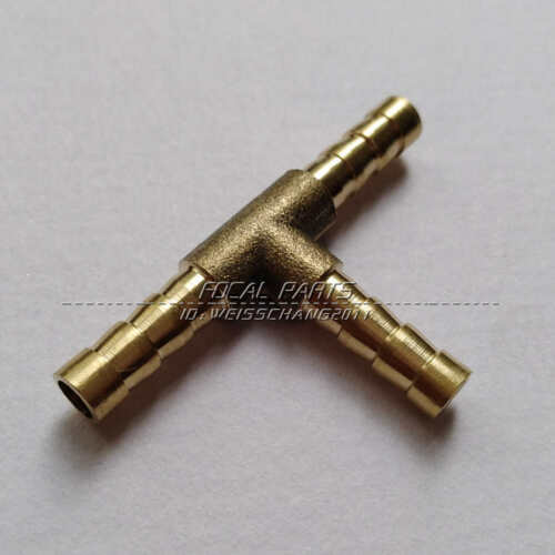 """1//4/"""" HOSE BARB TEE Brass Pipe 3 WAY T Fitting Thread Gas Fuel Water Air M539"""