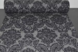 Wollfilz-grau-meliert-mit-schwarzen-Ornamenten-Filz-bedruckt-mit-Ranken-903
