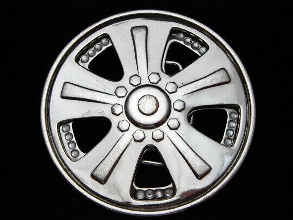 OJ03128 Wirklich Cool Spinnen Chrom Rad (Auto) Mode Neuheit Gürtelschnalle