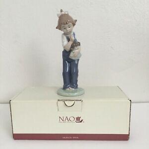Vintage-Lladro-Nao-Hush-Porcelain-Figurine-Girl-Doll-Valencia-Spain-Statuette