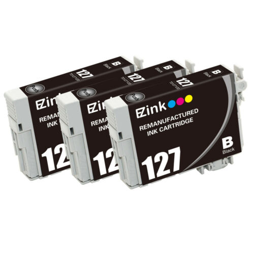 3PK Remanufactured Ink Cartridges for 127 fit Epson WorkForce 3540 7010 645 7510