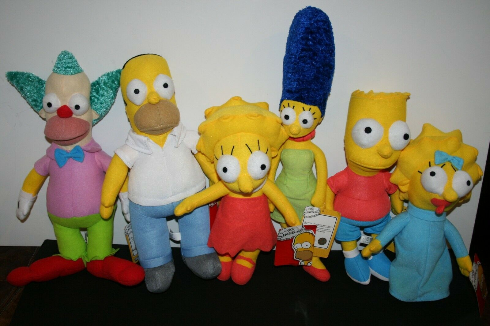 THE SIMPSONS HOMER,MARGE,KRUSTY,BART,LISA AND MAGGIE BABY. ALL 6 NEW WITH TAGS