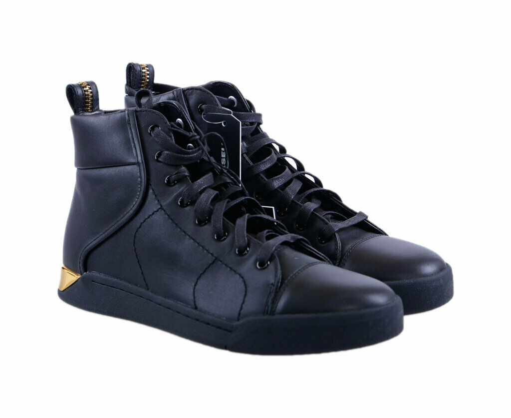 DIESEL Mens Sneakers High Neck Lace up Trainers Basketball shoes F3-2842