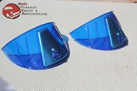 Blue Headlight Headlamp Visor Bulb Trim Poker Golf Hat Cover Custom Car Pickup