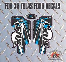 Fox 36  FORK Talas Stickers Decals Graphics Mountain Bike Down Hill MTB blue